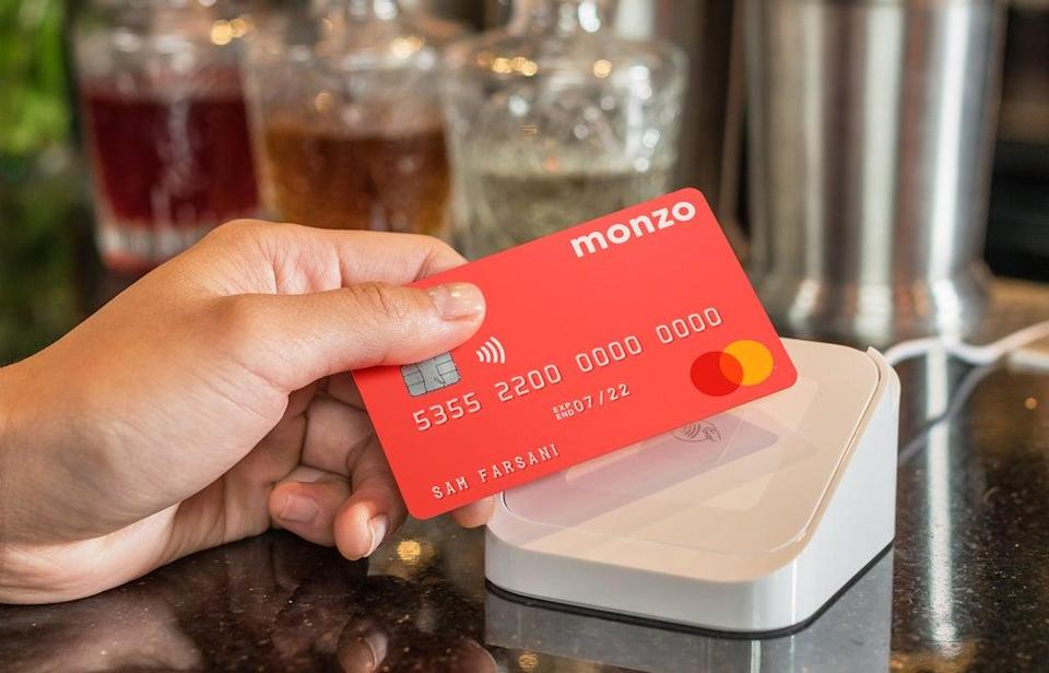 One of Monzo's iconic 'hot coral' cards (Monzo)