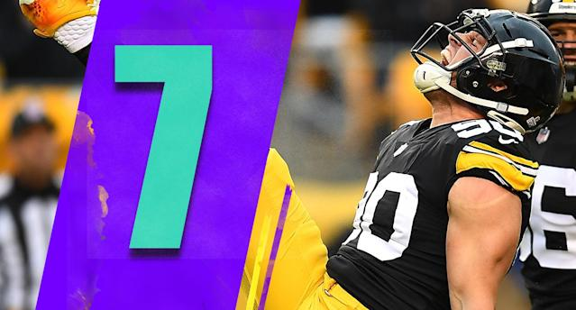 <p>It can all turn back around on a dime, but a short winning streak has taken a lot of the heat off Mike Tomlin. However, with a loss on Sunday to the Ravens it will surely start up again. (T.J. Watt) </p>