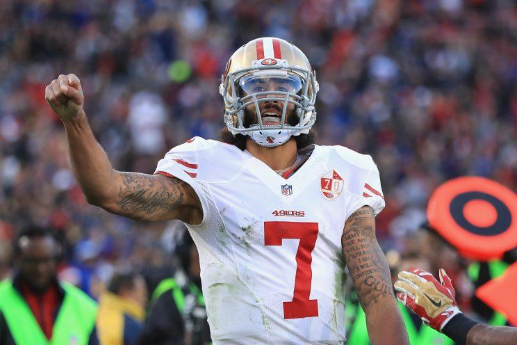 The Ravens are showing interest in Colin Kaepernick but with all things Kaepernick, things aren't so easy. (Getty Images)