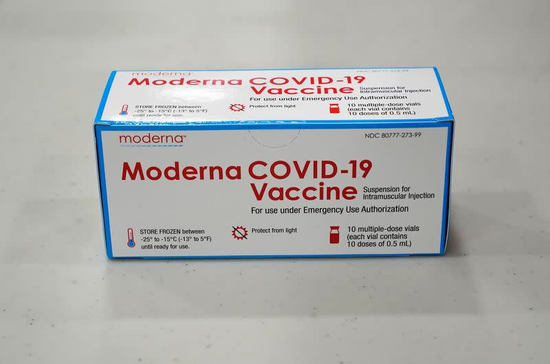 Moderna's COVID-19 vaccine at the McKesson distribution center in Olive Branch, Mississippi