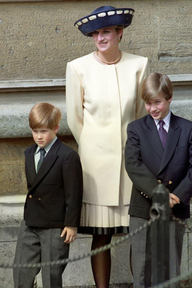 ]Diana with her sons who have publicly kept her memory alive. Martin Keene/PA Wire