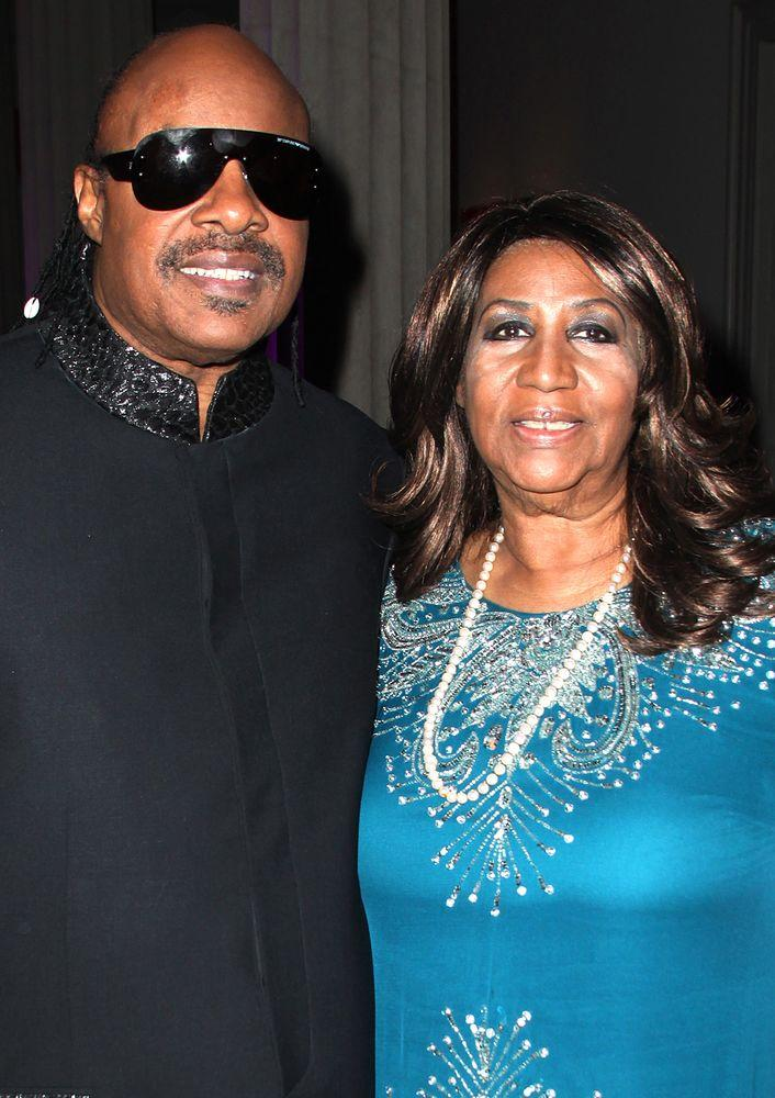 Stevie Wonder and Aretha Franklin