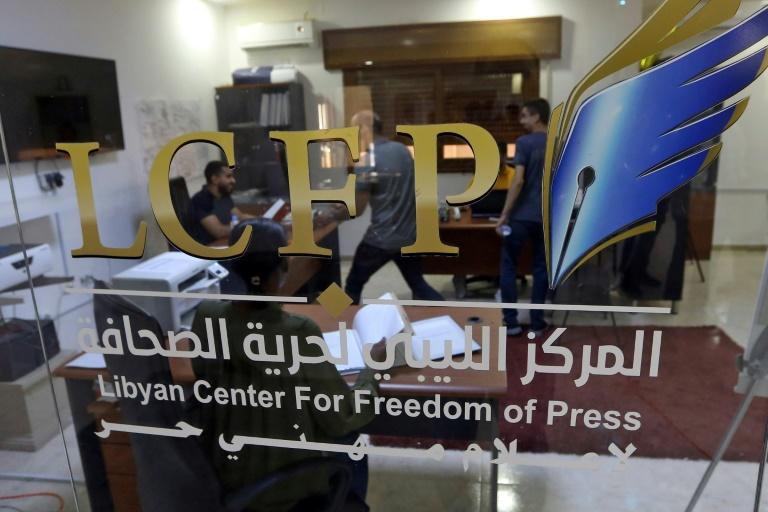 The Libyan Center for Freedom of Press has documented 32 attacks on journalists since early April (AFP Photo/Mahmud TURKIA)