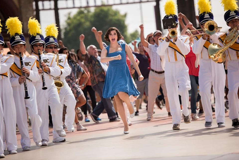 """<p>In a lot of ways, <strong>Crazy Ex-Girlfriend</strong> is a romantic comedy that also deconstructs and pokes fun at romantic comedies. It starts off with a classic premise - Rebecca (Rachel Bloom), a high-powered lawyer, bails on her New York job to impulsively follow her teenage crush out to suburban California - but then the show spends just as much time diving into toxic tropes about romance as it does embracing the most swoon-worthy aspects of your favorite comedies. And they do it in song!</p> <p><a href=""""http://www.netflix.com/title/80066227"""" class=""""link rapid-noclick-resp"""" rel=""""nofollow noopener"""" target=""""_blank"""" data-ylk=""""slk:Watch Crazy Ex-Girlfriend on Netflix"""">Watch <strong>Crazy Ex-Girlfriend</strong> on Netflix</a>.</p>"""