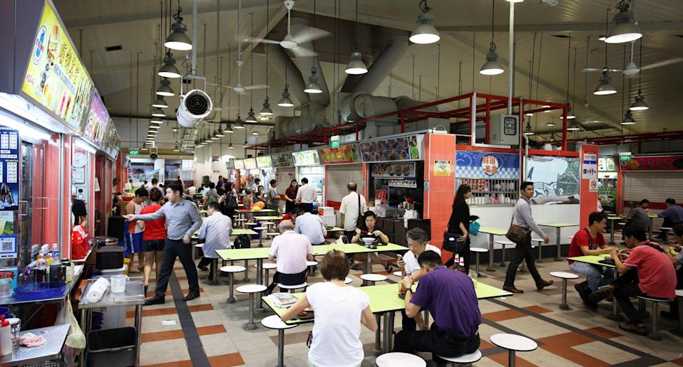 A hawker centre in Singapore. Yahoo file photo