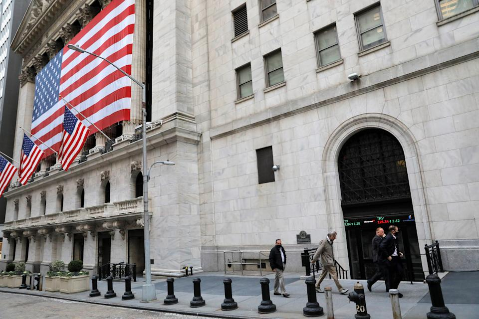 A trader exits the New York Stock Exchange (NYSE) on Election Day in Manhattan, New York City, New York, U.S., November 3, 2020. REUTERS/Andrew Kelly