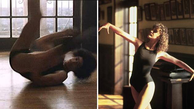 Breakdancer Crazy Legs, left, doubled for Jennifer Beals in 'Flashdance'