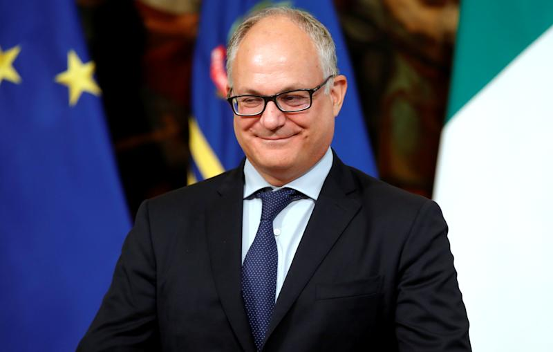 Italian Finance Minister Roberto Gualtieri looks on during the swearing-in ceremony at Quirinale Presidential Palace in Rome, Italy September 5, 2019. REUTERS/Ciro de Luca