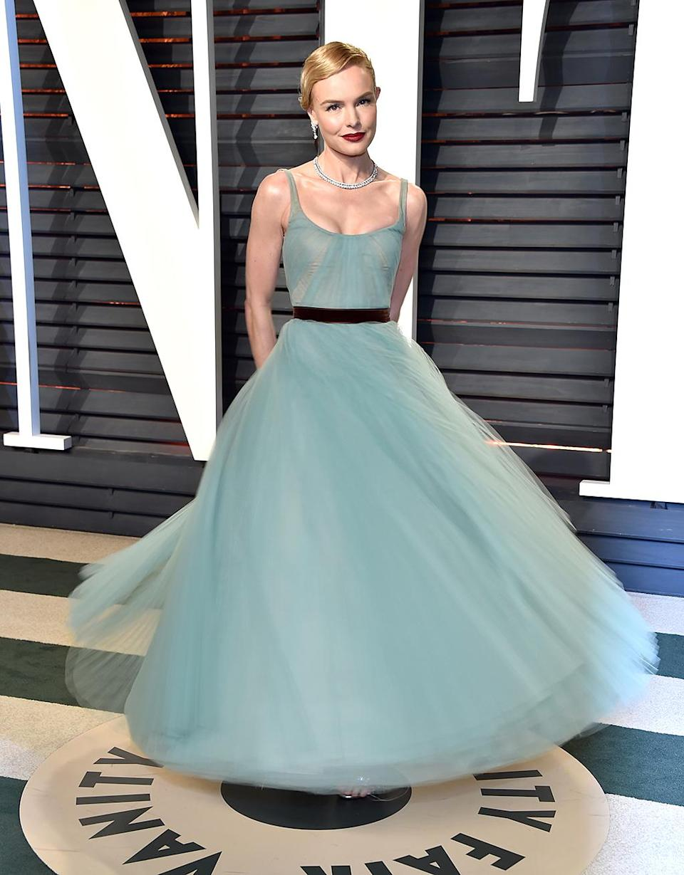 <p>Kate Bosworth attends the 2017 Vanity Fair Oscar Party hosted by Graydon Carter at Wallis Annenberg Center for the Performing Arts on February 26, 2017 in Beverly Hills, California. (Photo by Pascal Le Segretain/Getty Images) </p>