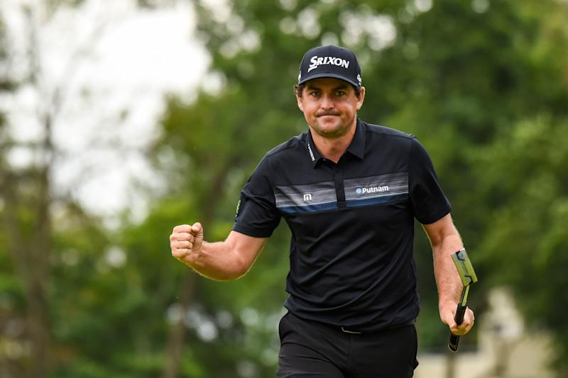 NEWTOWN SQUARE, PA - SEPTEMBER 08: Keegan Bradley celebrates and pumps his fist after making a birdie putt on the 14th hole green during the third round of the BMW Championship at Aronimink Golf Club on September 8, 2018 in Newtown Square, Pennsylvania. (Photo by Keyur Khamar/PGA TOUR) - Who's Helped And Who's Hurt The Most If The BMW Championship Is Cut To A 54-hole Event?