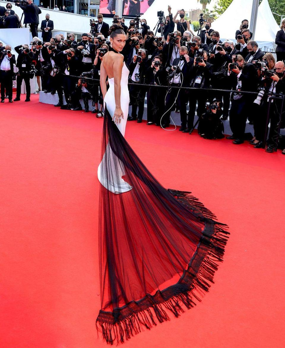 Bella Hadid in Jean Paul Gaultier Couture