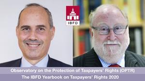 Prof. Dr Pasquale Pistone and Prof. Dr Philip Baker, present the OPTR Yearbook