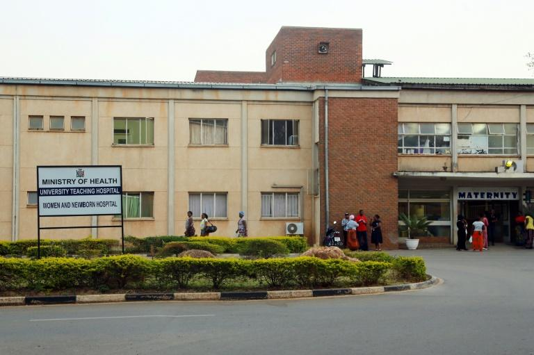 A picture shows a general view of the University Teaching Hospital on September 21, 2017 in Lusaka, Zambia