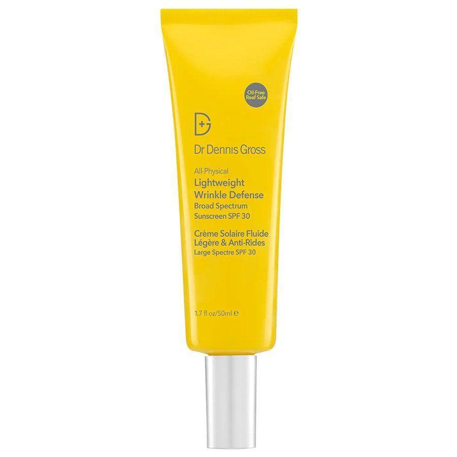 """<p><strong>Dr. Dennis Gross</strong></p><p>sephora.com</p><p><strong>$42.00</strong></p><p><a href=""""https://go.redirectingat.com?id=74968X1596630&url=https%3A%2F%2Fwww.sephora.com%2Fproduct%2Fdr-dennis-gross-skincare-all-physical-lightweight-wrinkle-defense-broad-spectrum-suncreen-spf-30-P470023&sref=https%3A%2F%2Fwww.menshealth.com%2Fgrooming%2Fg36319692%2Fbest-zinc-oxide-sunscreens%2F"""" rel=""""nofollow noopener"""" target=""""_blank"""" data-ylk=""""slk:BUY IT HERE"""" class=""""link rapid-noclick-resp"""">BUY IT HERE</a></p><p>The zinc particles in this daily facial sunscreen not only protect your skin from UVA and UVB rays, but supposedly from blue light from screens as well. What makes it a great daily mineral sunscreen with zinc, however, is that it's oil-free and lightweight, and miraculously <a href=""""https://www.menshealth.com/grooming/g33627212/best-sunscreen-dark-skin-tones/"""" rel=""""nofollow noopener"""" target=""""_blank"""" data-ylk=""""slk:blends into even darker skin tones"""" class=""""link rapid-noclick-resp"""">blends into even darker skin tones</a> with no white cast.</p>"""