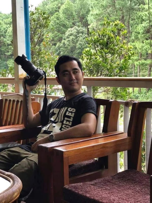 Kaung Myat Hlaing, a DVB journalist, poses in unknown location