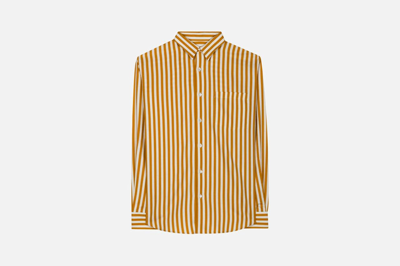 """<p>A wide striped shirt is a simple way to punch up a summer suit or to give any beach-bound look some 1960s vibes. — Jake Woolf</p><p><em>$295, buy now at <a rel=""""nofollow"""" href=""""https://www.amiparis.com/us/shopping/large-classic-shirt-11635326?StoreId=9846&mbid=synd_yahoostyle"""">amiparis.com</a></em></p>"""