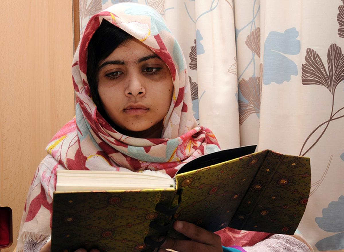 Malala Yousafzai, a 15-year-old Pakistani women's rights activist, was shot by Taliban gunmen on Oct. 9 while returning home from school—a place the Taliban have, at times, banned girls from attending. (Queen Elizabeth Hospital/AP Photo)