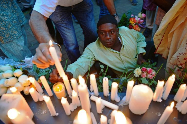 Grief: Kenyans launched prayer vigils for the victims of the massacre