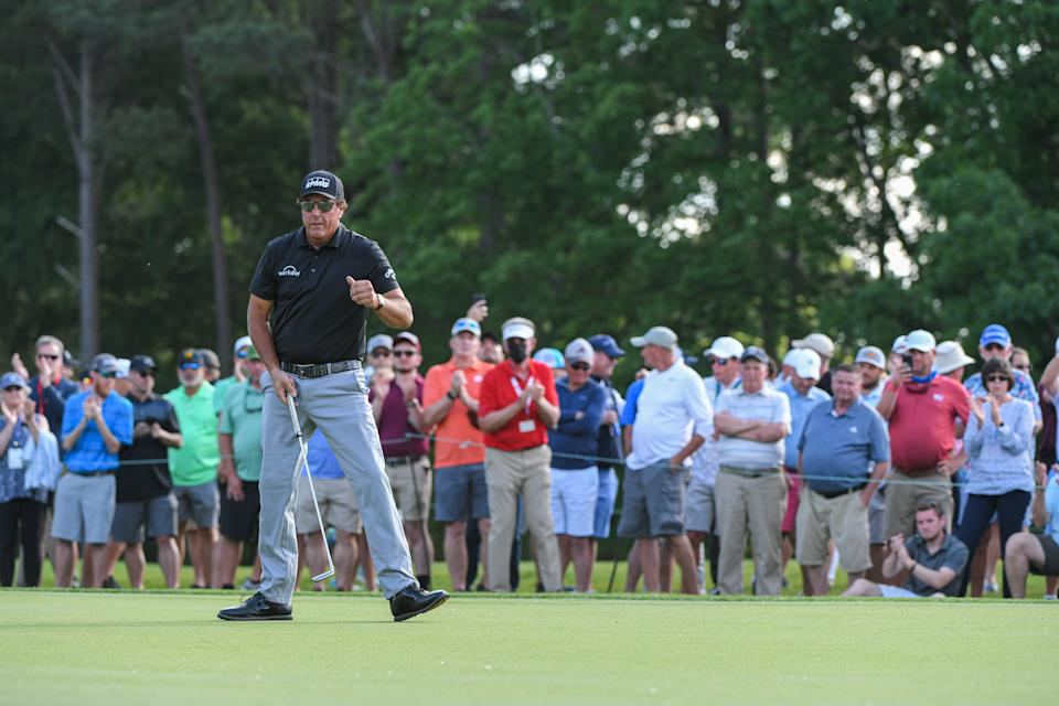 Phil Mickelson at the 2021 Wells Fargo Championship