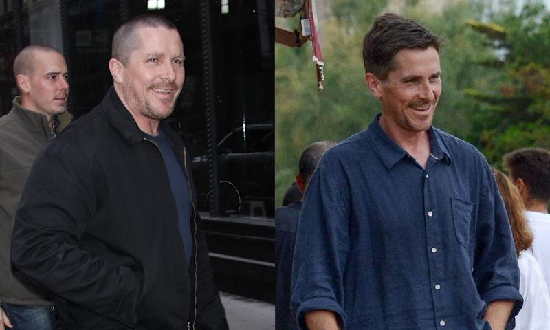 Christian Bale looked much different in December, left, than he did on Friday. (Photo: Getty Images/Backgrid)