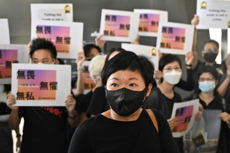 Bao Choy, a Hong Kong journalist who was prosecuted for an investigative documentary, has won an award for that work