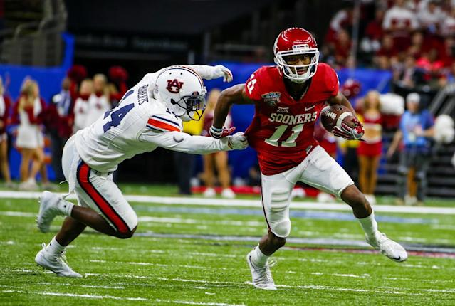 Oklahoma WR Dede Westbrook is an electric playmaker with character concerns. (AP)