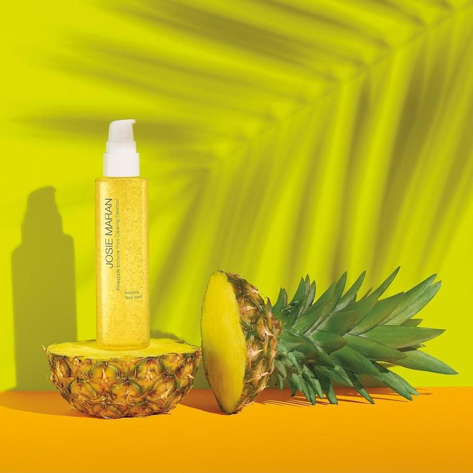 <p>The gentle yet effective <span>Josie Maran Pineapple Enzyme Pore Clearing Cleanser</span> ($28) can be used as a daily cleanser or as an every-other-day exfoliator. Your skin will look less congested and smoother with just one use of this.</p>