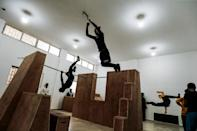 Young people in the Gaza Strip have been practising parkour for years; bounding from ruin to ruin in an enclave pockmarked by three wars between Israel and the armed Islamist movement Hamas