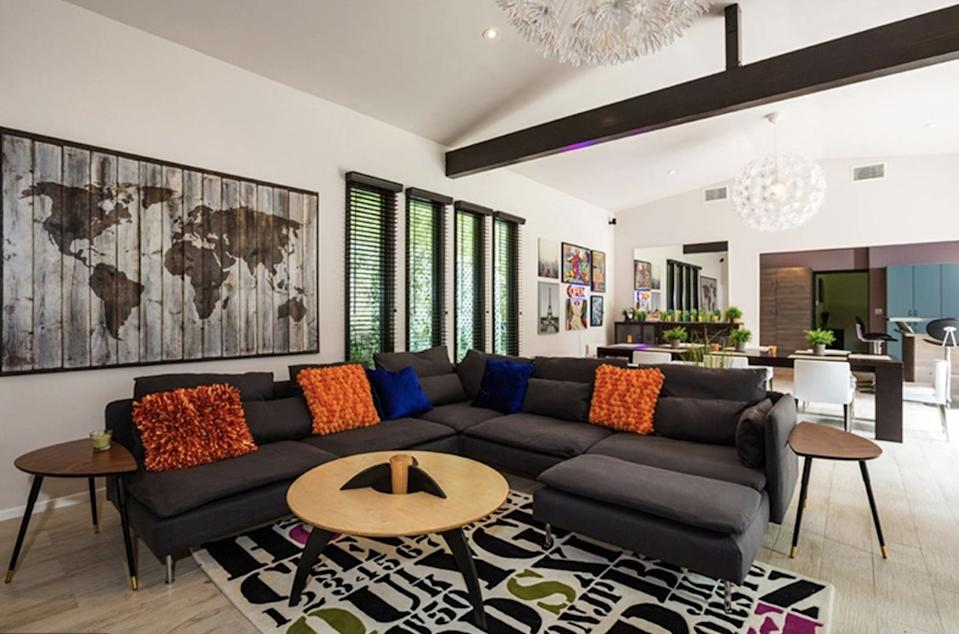 """An inside look at Miley's """"funky"""" new home. Photo: Australscope."""