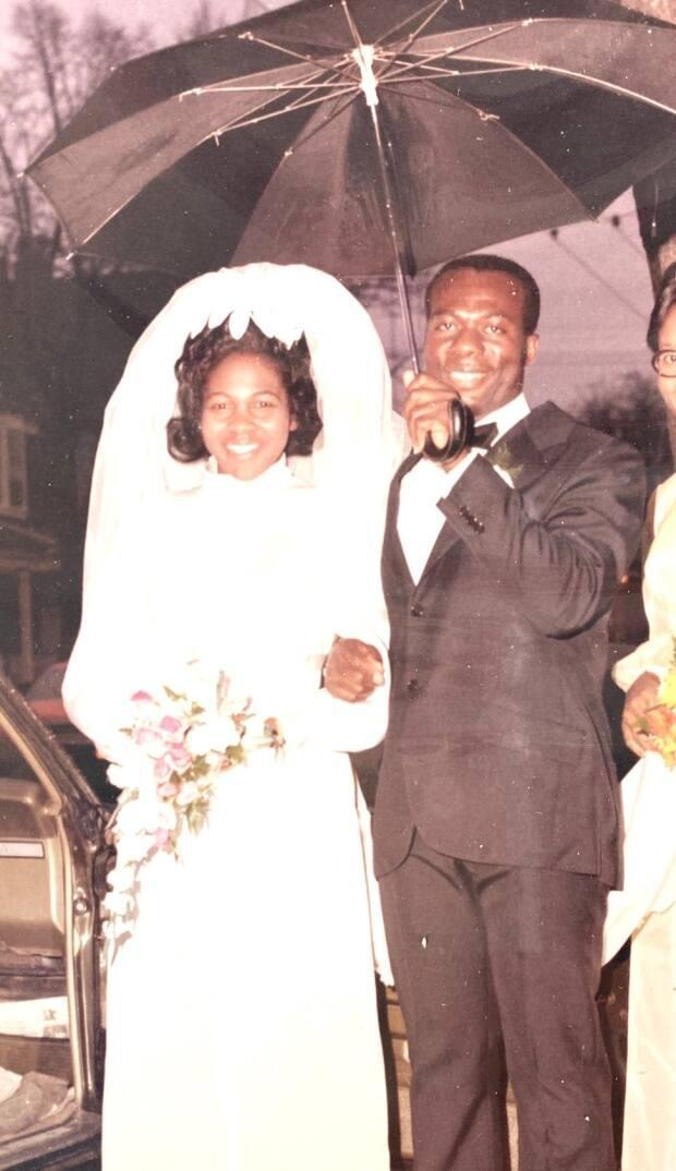Esme and Vincent Clarke on their wedding day. They moved to Toronto from Jamaica in the 1960s.