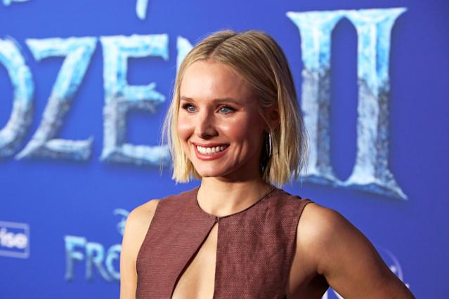 "Actor Kristen Bell attends the world premiere of Disney's ""Frozen 2"" at Hollywood's Dolby Theatre on Thursday, November 7, 2019 in Hollywood, California. (Photo by Jesse Grant/Getty Images for Disney)"