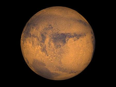 FILE PHOTO:  The planet Mars showing showing Terra Meridiani is seen in an undated NASA image.  REUTERS/NASA/Greg Shirah/Handout