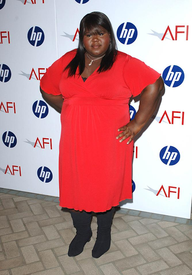 "<a href=""http://movies.yahoo.com/movie/contributor/1810088328"">Gabourey Sidibe</a> at the 10th Annual AFI Awards in Los Angeles - 01/15/2010"