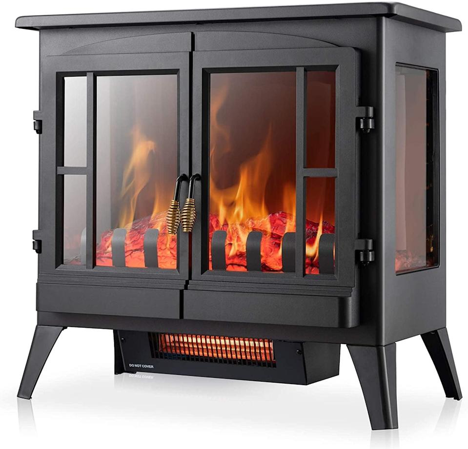<p>This <span>Xbeauty Electric Fireplace Stove</span> ($120) is easy to place just about anywhere.</p>