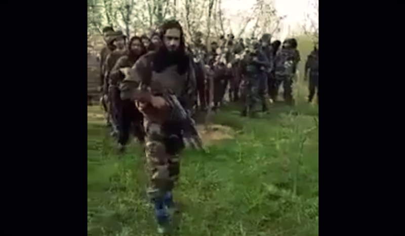 New Video of 30 Militants Brandishing AK-47s in Kashmir Emerges