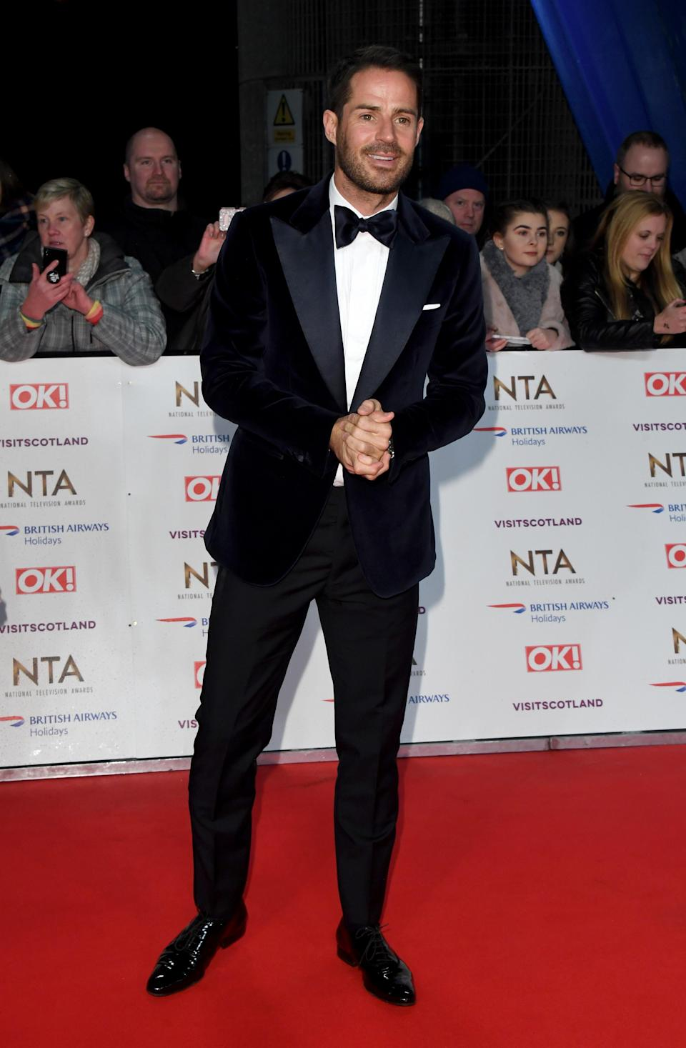 <p>Wearing a midnight blue velvet blazer and tailored trousers. <em>[Photo: Getty]</em> </p>