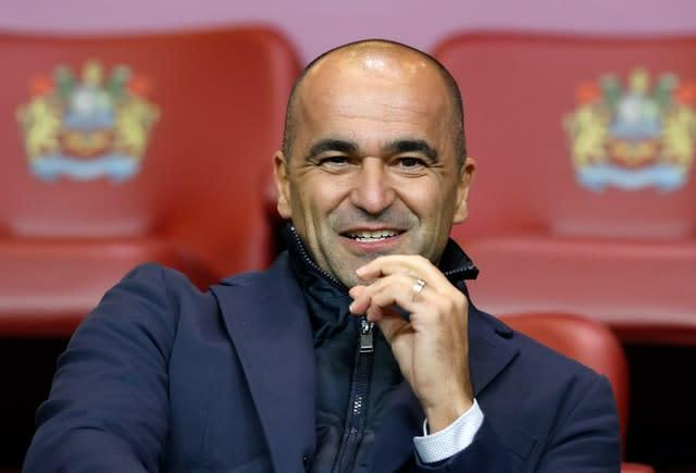 Belgium manager Roberto Martinez has swapped ideas with Townsend (PA)
