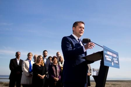Leader of Canada's Conservatives campaigns in Delta BC