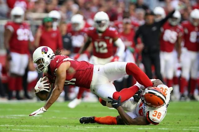 Arizona Cardinals receiver Larry Fitzgerald is returning for a 17th season in the NFL (AFP Photo/Christian Petersen)