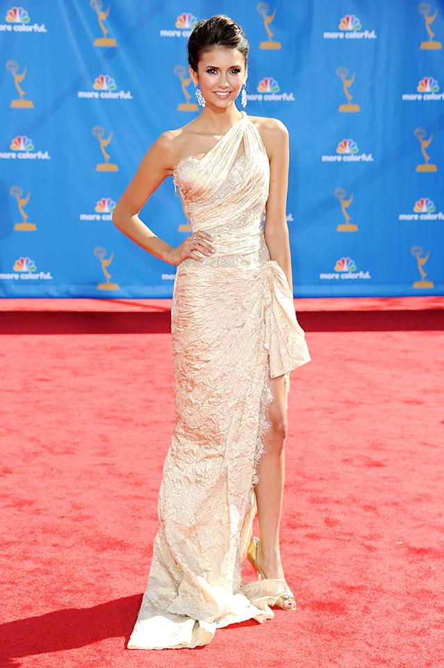 LOS ANGELES, CA - AUGUST 29:  Actress Emmanuelle Chriqui arrives at the 62nd Annual Primetime Emmy Awards held at the Nokia Theatre L.A. Live on August 29, 2010 in Los Angeles, California.  (Photo by Frazer Harrison/Getty Images) *** Local Caption *** Emmanuelle Chriqui