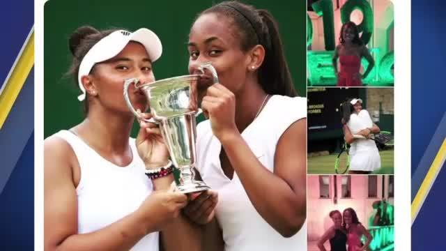 A Raleigh teenager took home a Wimbledon trophy after winning the Girls' Doubles division.