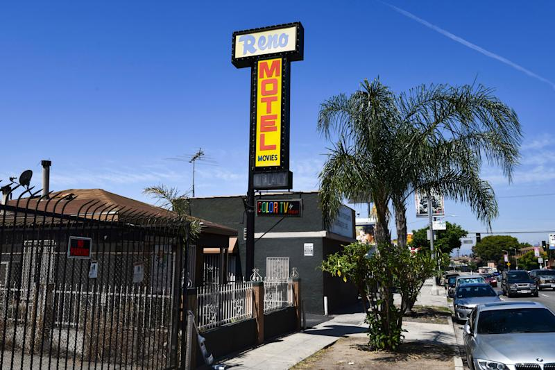 According to a 2018 annual report from the U.S. Department of Housing and Urban Development, roughly 553,000 people experienced homelessness on any given night last year. Los Angeles County is just one of several areas across the country that, with the help of nonprofit organizations and developers, has begun renovating or leasing motel rooms as a way to uplift its homeless population. The Reno Motel in Los Angeles is one of these.