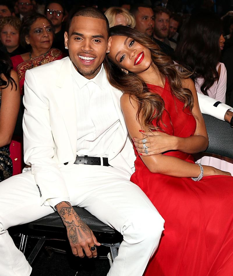 Rumours had been abound that Rihanna had reunited with her ex Chris Brown, and this speculation went into overdrive when they were seen cosying up at the 2013 Grammys.<br /><br />The choice of venue was also particularly poignant, as it was while on their way to Clive Davis&rsquo;s Grammys party that Brown had assaulted Rihanna four years prior, leaving her in need of medical attention.