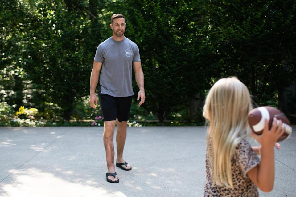 Alex Smith and his family star in a new ad campaign for Oofos. - Credit: Courtesy of Oofos