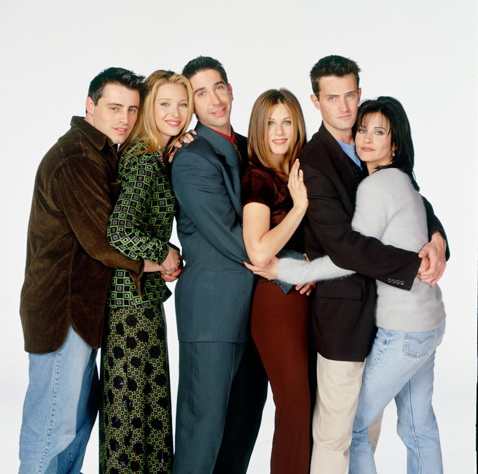 The cast of Friends pictured during the show's original run (Photo: NBC via Getty Images)