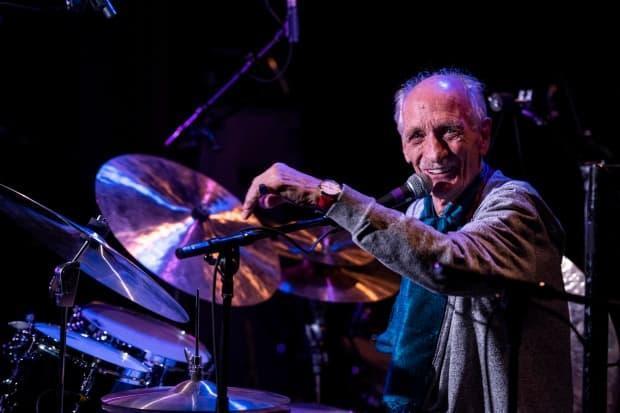 Jerry Granelli performs at the Banff Centre in 2018. Granelli died Tuesday morning at the age of 80. (Jessica Wittman Banff Centre 2018 - image credit)