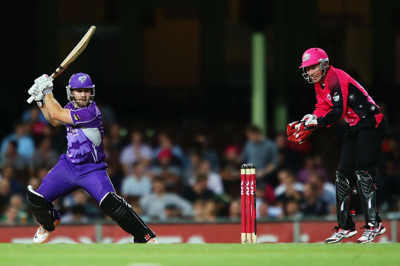 SYDNEY, AUSTRALIA - DECEMBER 26:  Aiden Blizzard of the Hurricanes bats during the Big Bash League match between the Sydney Sixers and the Hobart Hurricanes at SCG on December 26, 2012 in Sydney, Australia.  (Photo by Brendon Thorne/Getty Images)