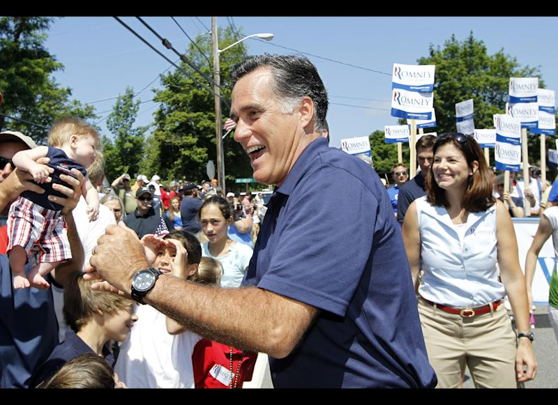 """While celebrating July 4 in New Hampshire, Romney took a break to guzzle lemonade. When asked how it tasted <a href=""""http://www.huffingtonpost.com/2012/07/05/romneys-lemonade-gaffe-what-was-he-thinking_n_1652138.html"""" target=""""_hplink"""">Romney replied</a> """"Lemon. Wet. Good."""""""