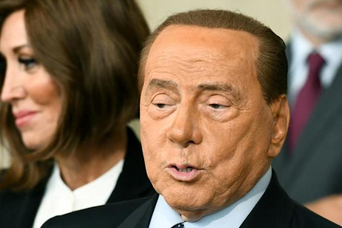 """Former premier Silvio Berlusconi warned against forming a government with """"a makeshift majority"""" (AFP Photo/Vincenzo PINTO)"""
