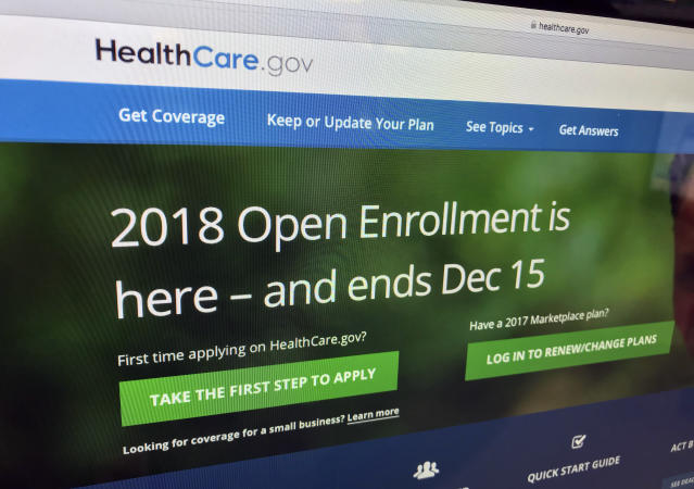 Healthcare.gov website. (AP Photo)
